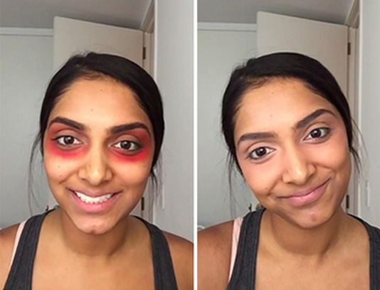 Crazy Red Lipstick Hack to Get Rid Of Dark Circles