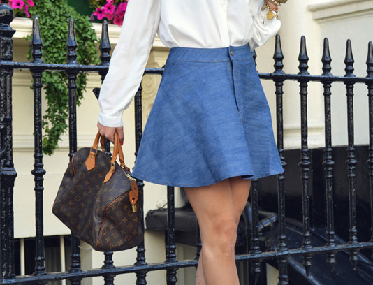 Fashion trend for this spring: Denim skirts