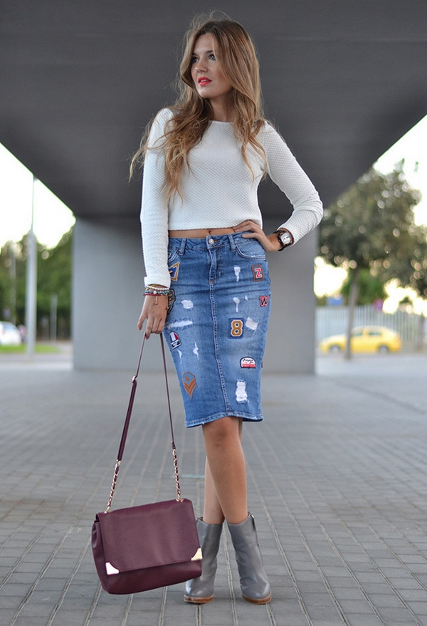 trend for this spring: Denim skirts
