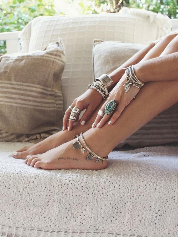 Beach foot jewelry