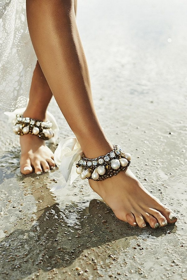 Beach foot jewelry