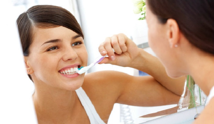 brushing teeth image