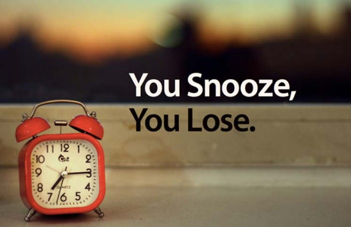 sleeping better - you snooze you loose