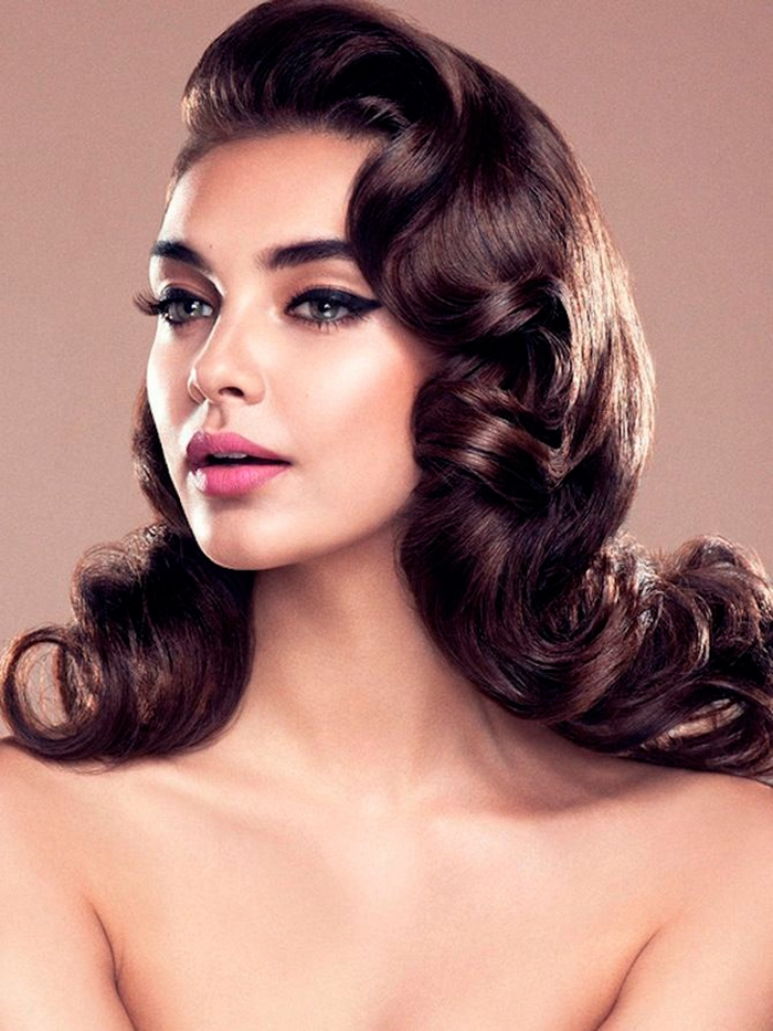 Classic Wedding Hair And Makeup : 30 Dreamy Vintage Hairstyle Updos Inspired By Old Hollywood