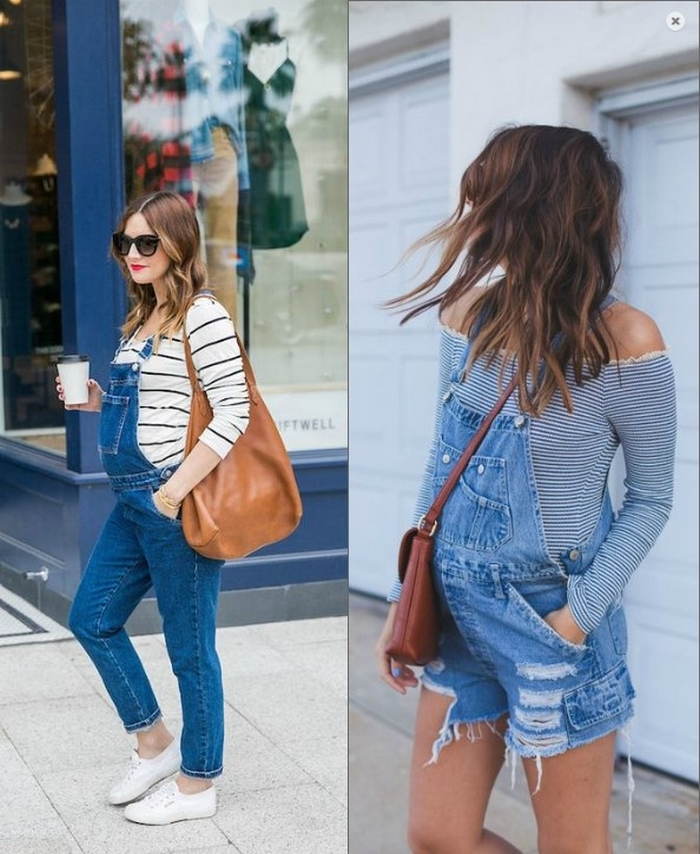 2459f66871 Top 10 fashion trends for pregnant women in 2017. Distressed jeans