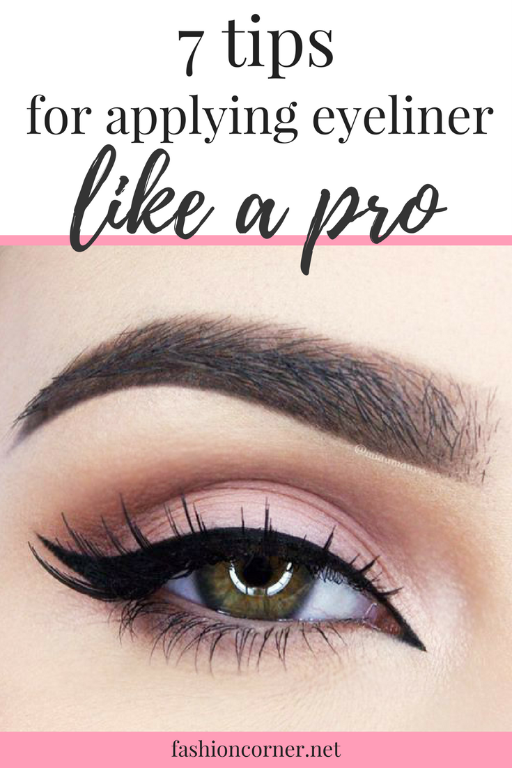 7 tips for applying eyeliner like a pro